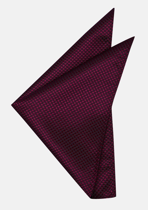 Burgundy Diamond Texture Pocket Square