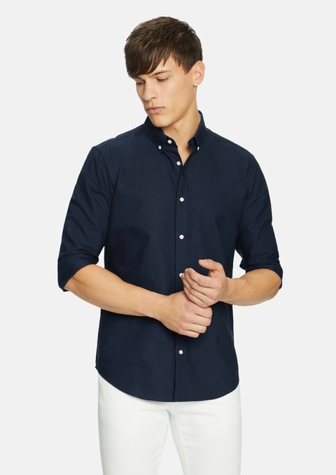Dark Blue Winston Oxford Shirt