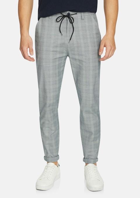 Grey Check Huntley Check Cropped Pant