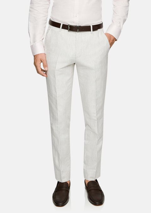 Natural Luis Linen Slim Dress Pant
