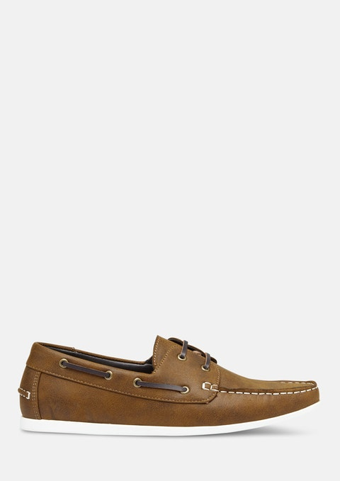 Tan Brown Help Boat Shoe