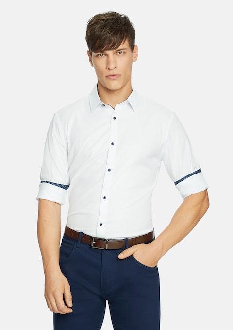 White Soul Textured Slim  Shirt