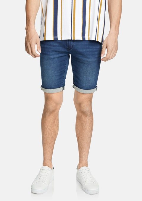 Blue Evans Denim Short