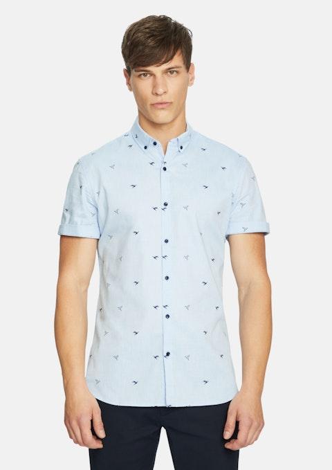 Sky Phil Origami Print Shirt