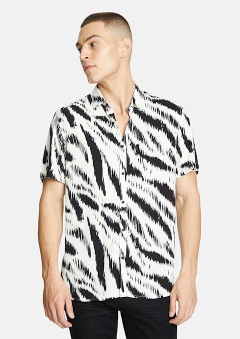 Black Jayson Print Shirt