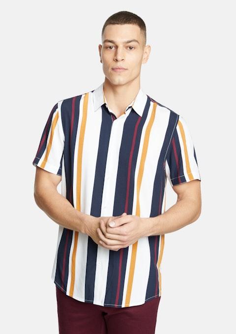 Navy Kansas Stripe Shirt
