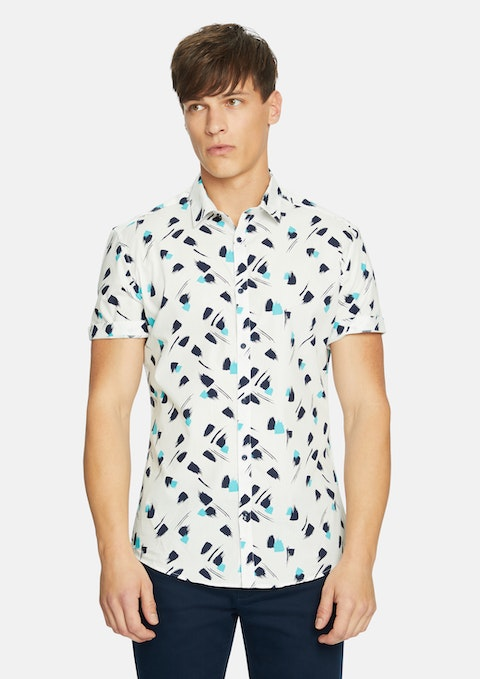 White Super Abstract Shirt