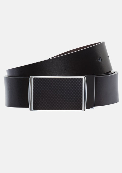 Black Mario Reversible Belt