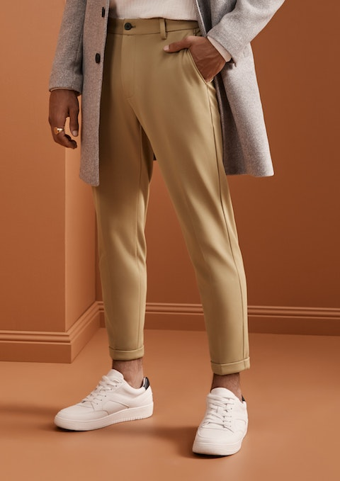 Caramel Member Super Stretch Cropped Chino