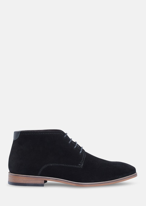 Black Memphis Suede Boot