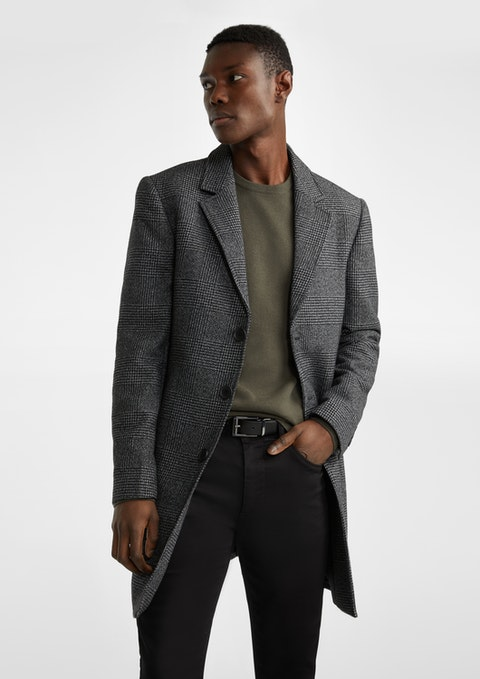 Charcoal Vienna Check Duster Coat