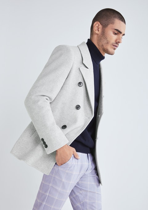 Silver Sterling Pea Coat