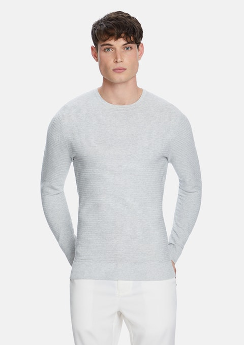 Light Grey Shadow Knit