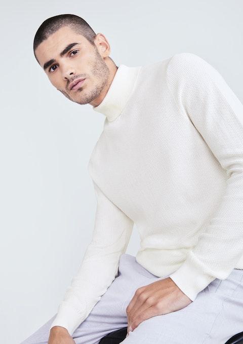 Winter White Emporio Turtleneck Knit