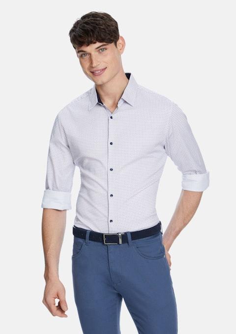 Pink Midhirst Slim  Shirt