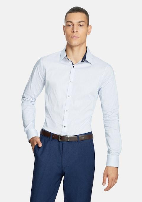 Blue Packton Print Slim  Shirt