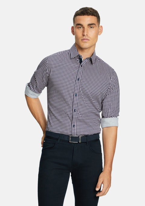 Dark Blue Baxter Slim Shirt