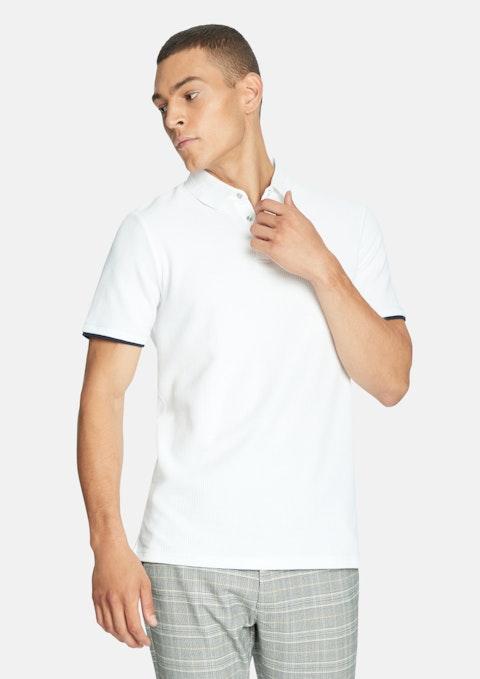 White Dorian Textured Polo