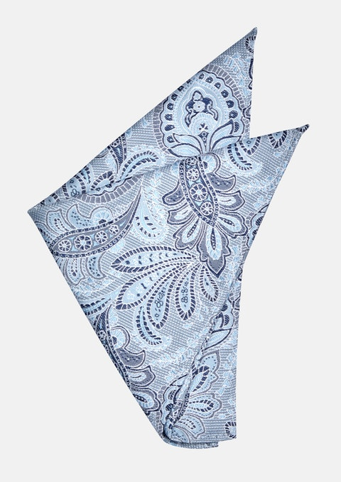 Sky Kurtis Paisley Pocket Square