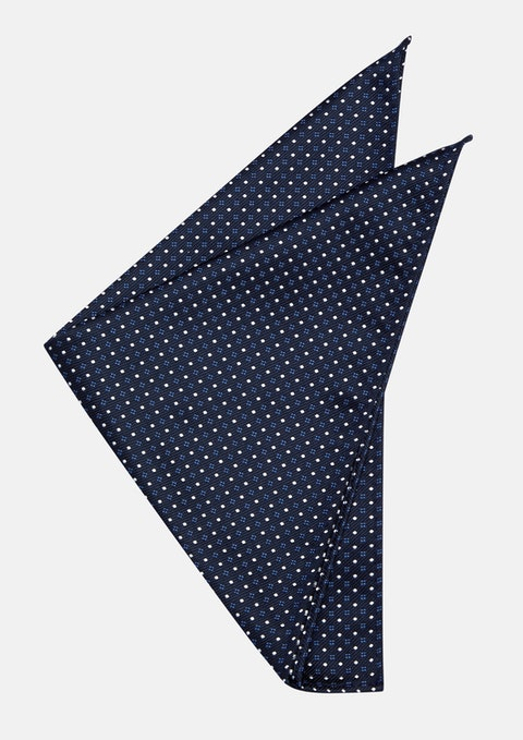Navy Casen Pocket Square