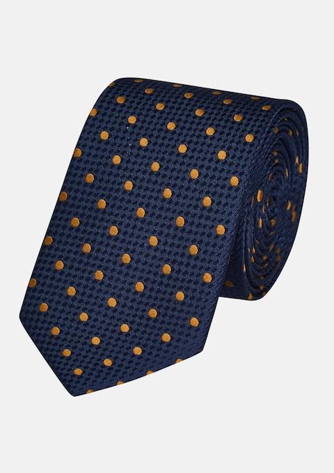 Gold Huxley Spot 6.5cm Tie