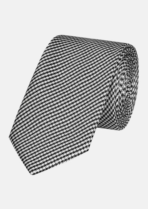 Black Gav Houndstooth 6.5cm Tie