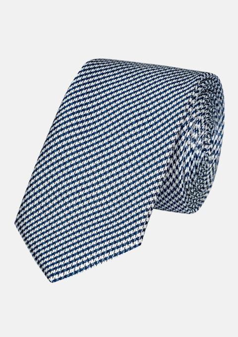Blue Gav Houndstooth 6.5cm Tie