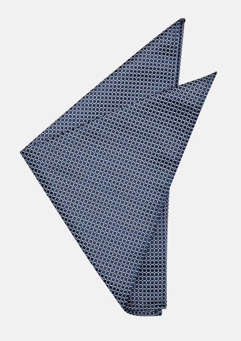 Navy Anders Pocket Square