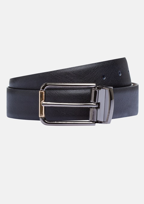 Black Walters Reversible Belt
