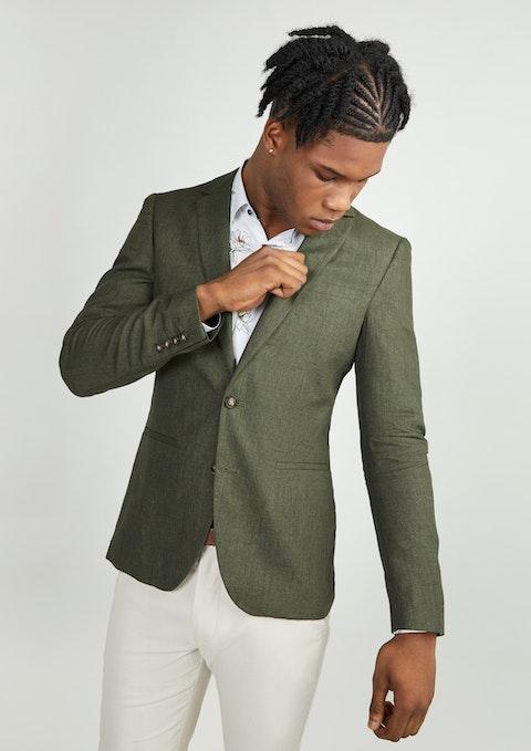 Khaki Barrack Linen Blazer